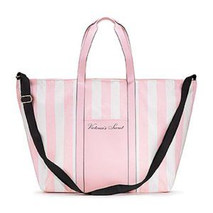 Victoria's Secret Pink & White Stripe Weekend Tote